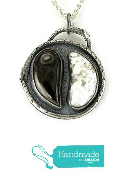 Yin Yang Sterling Necklace, Black and White Stone Pendant from All ...