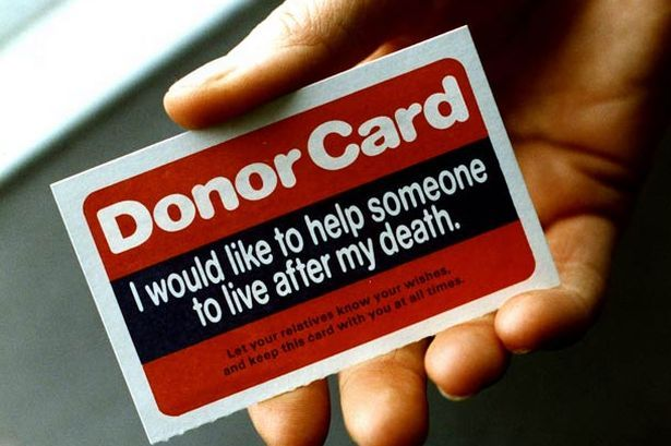 Registered for organ donation as part of my planning to leave a legacy