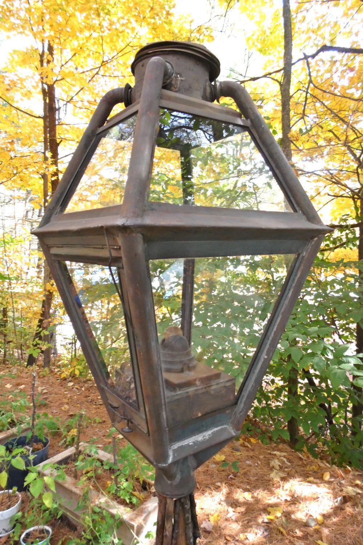 Antique Dietz Kerosene Oil Street Lamp No 2 19th Century Public Lighting By Squarenutsshop On Etsy Street Lamp Lamp Kerosene