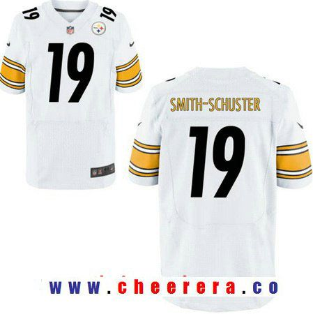 f742a8ee870 Men s 2017 NFL Draft Pittsburgh Steelers  19 JuJu Smith-Schuster White Road  Stitched NFL