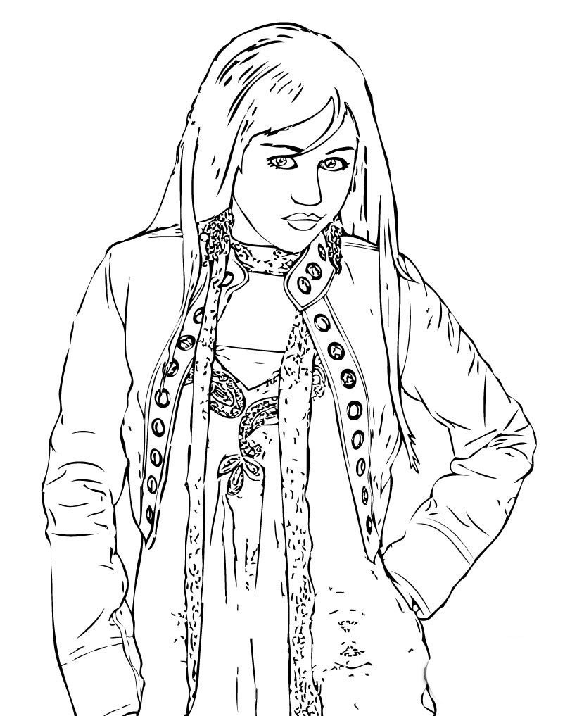 http://colorings.co/hannah-montana-coloring-pages/ | Colorings ...