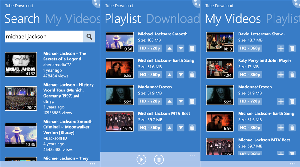 Tube Download YouTube video downloader for Windows Phone