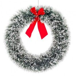 Our Lovely Traditional Christmas Wreath With Snow Tips Is Complete A Red Bow Part Of Classic Themed Range This Year Look Out For Many