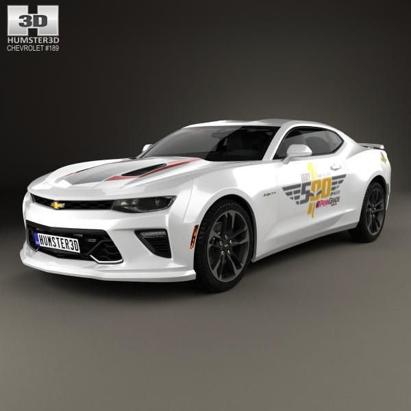 Chevrolet Camaro Ss Indy 500 Pace Car 2016 3d Model From Hum3d