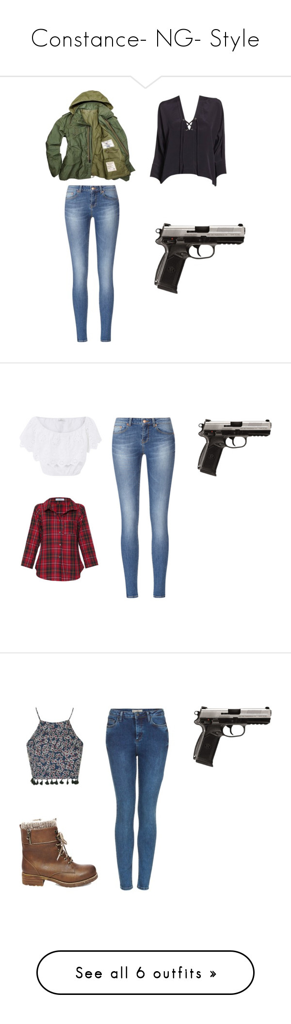 """""""Constance- NG- Style"""" by inestrindade on Polyvore featuring Miguelina, Vitamin, Topshop, Steve Madden and MANGO"""