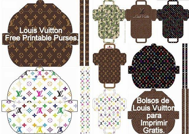 Louis Vuitton: Free Printable Paper Purses   Card ...