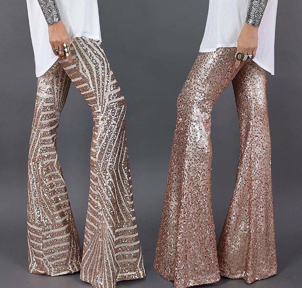 Sequin bell bottom pants! In love | Clothes | Sequin ...