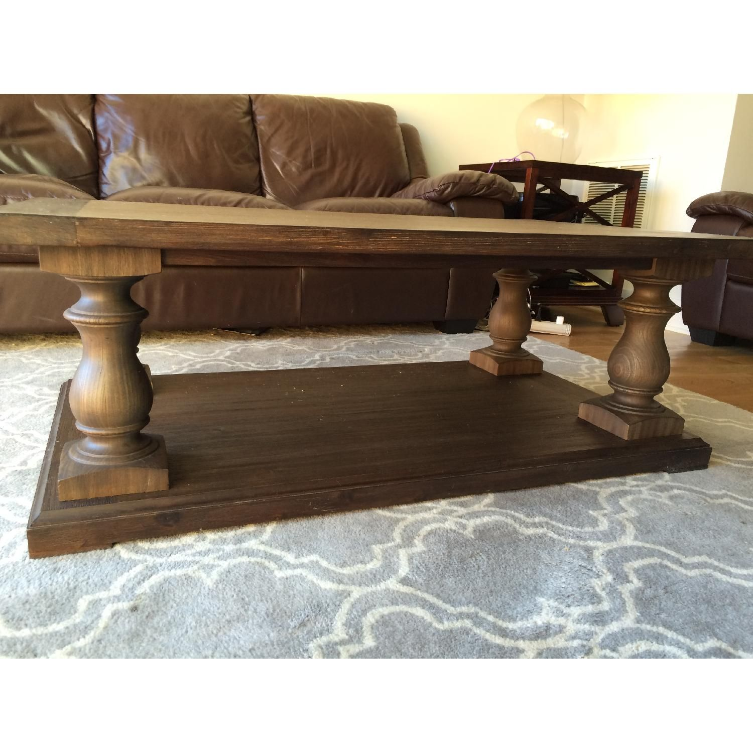Restoration Hardware 17th Century Monastery Coffee Table In Brown