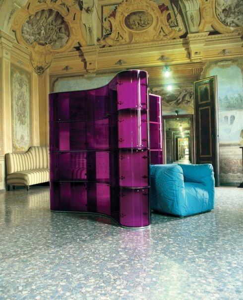 Paesaggi Italiani purple modular container and sponge chair for Edra. Courtesy o