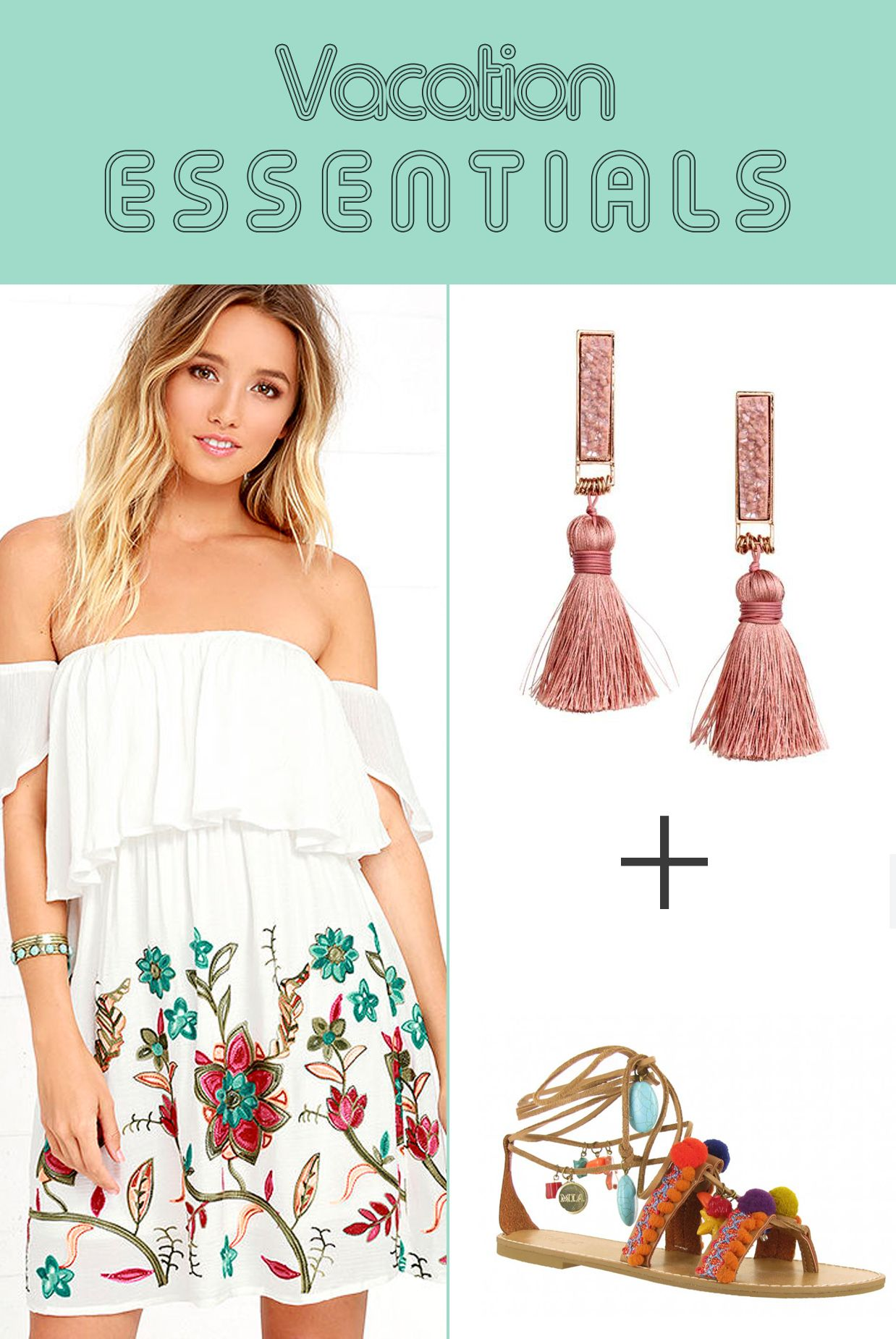 79a3878f7c Vacation packing is made easy with these beach getaway outfits. From  swimsuits to dresses to sandals