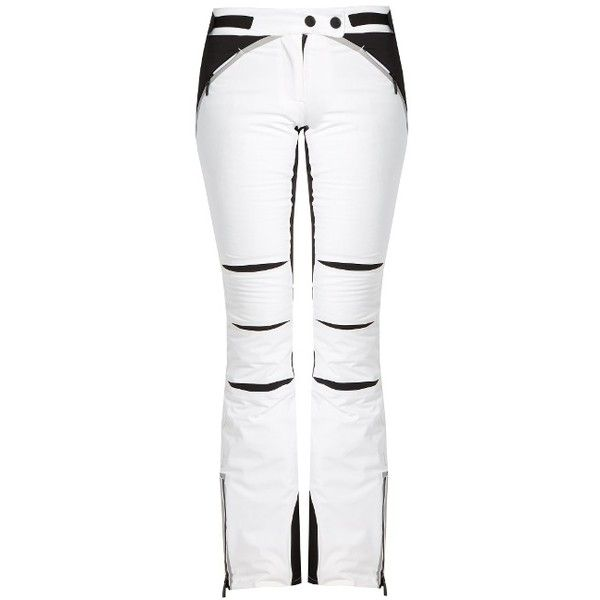 Lacroix Pulse waterproof ski trousers (2.070 DKK) ❤ liked on Polyvore featuring white black and christian lacroix