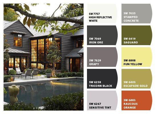 Dark Exterior Paint Colors Exterior Paint Colors Chats Savannah And White Trim