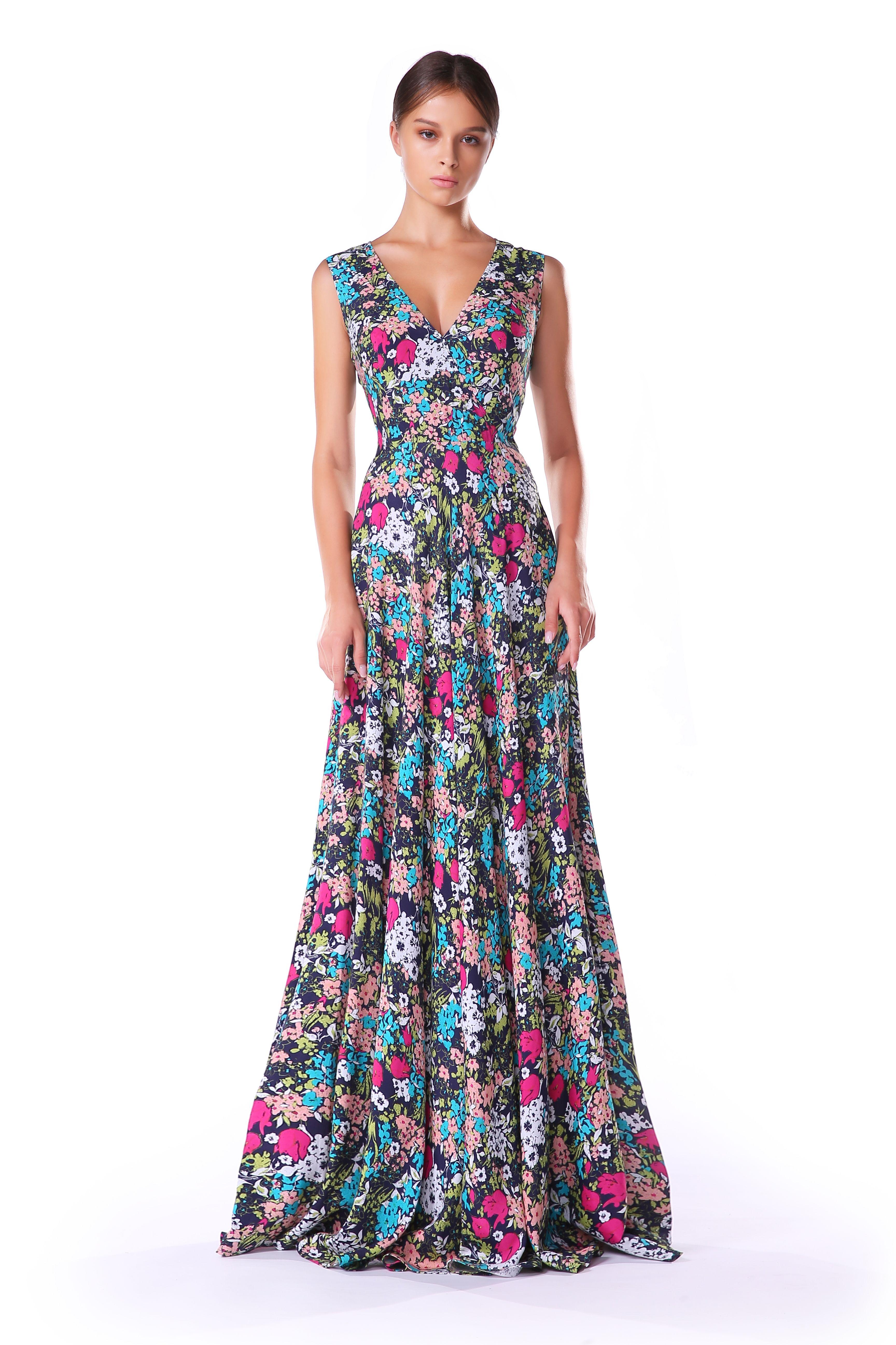 Картинки летнее длинное платье