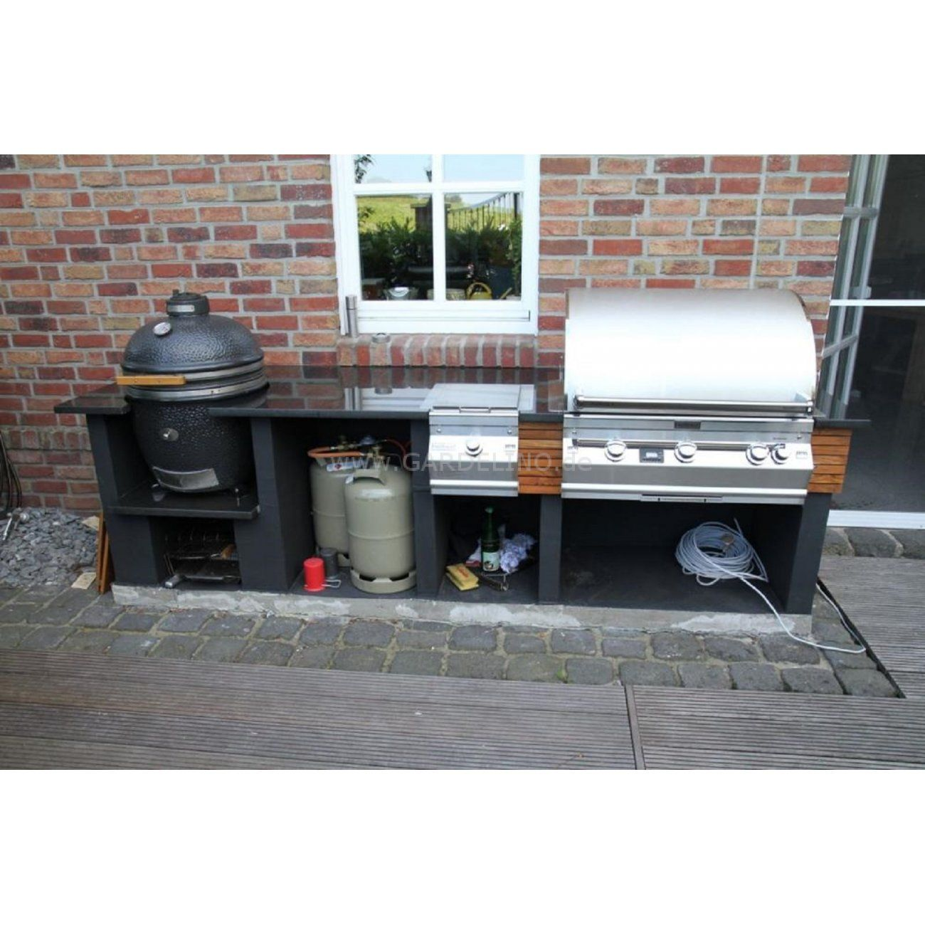 Grill In Outdoor Küche Integrieren Fire Magic Outdoorküche Mit Monolith Kamadogrill Fire Magic