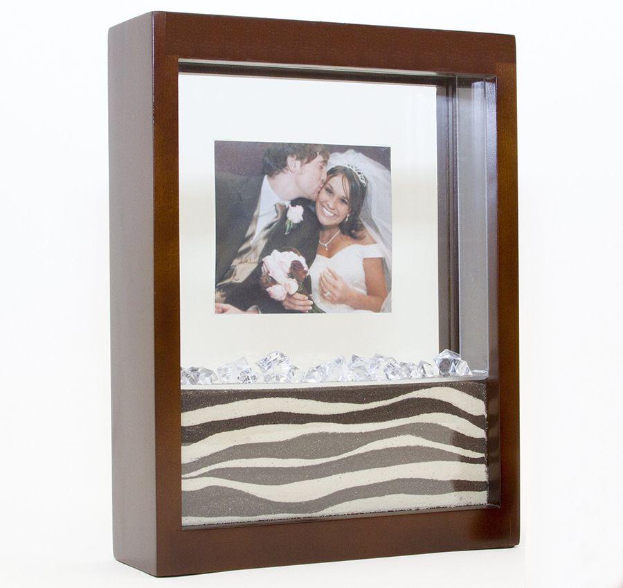 Unity Sand Ceremony Walnut Picture Frame | Destination Wedding ...