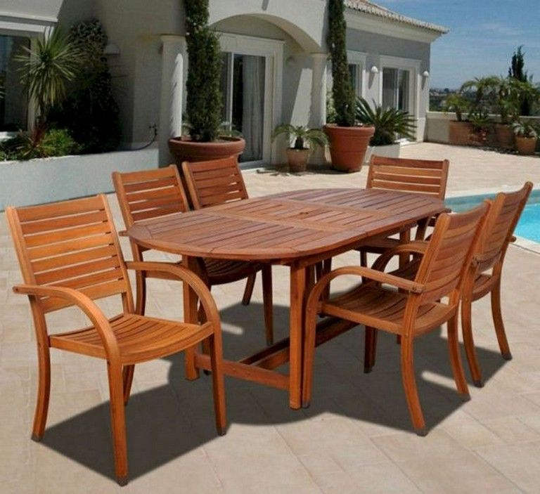53 Comfy Patio Table Ideas On A Budget Outdoor Dining Set Patio Dining Set Beautiful Outdoor Furniture
