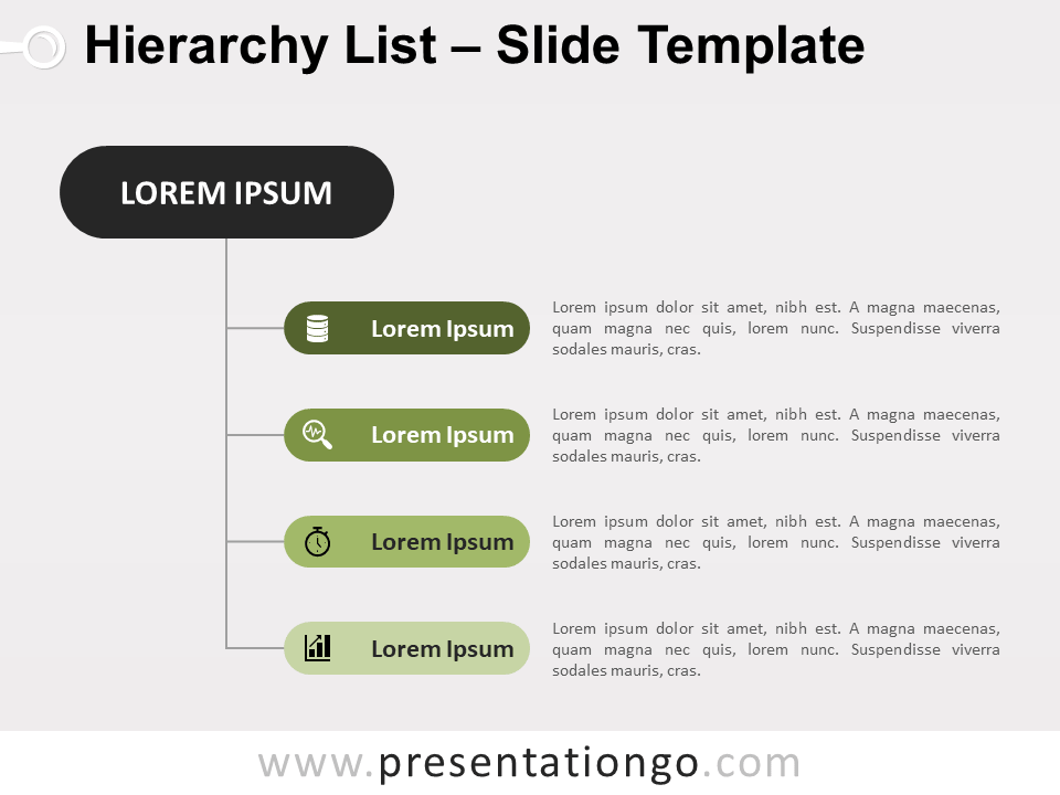 Vertical Hierarchy List For Powerpoint And Google Slides Powerpoint Hierarchy Google Slides