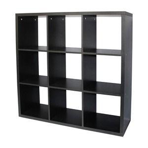 Etagere 9 Cases 110 X 33 5 X 110 Cm Noir Meuble Salle A Manger Mobilier De Salon Meubles De Rangement