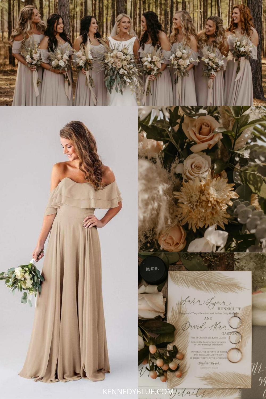 Sara David S Stunning Southern Wedding Rustic Wedding Dresses Bridesmaid Bridesmaid Dresses Color Palette Rustic Bridesmaid Dresses [ 1500 x 1000 Pixel ]