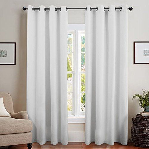 Blackout Curtain Liner Thermal Insulated White Blackout Curtains For Bedroom Energy Efficient White Blackout Curtains Grommet Curtains Energy Efficient Drapes