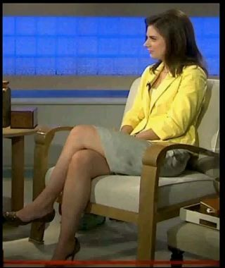 Erin burnett hot legs