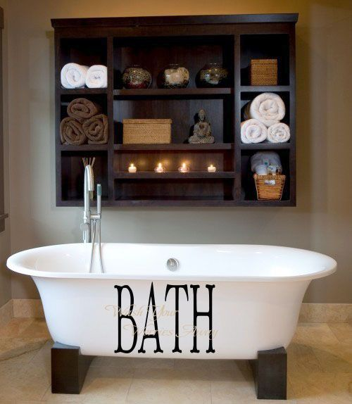 Photo of Bath Wash Your Worries Overlay Wall Decal