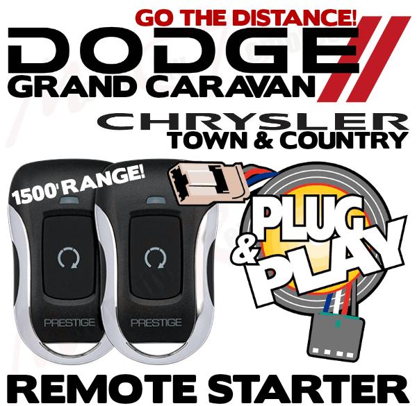 Plug /& Play 1 Way Keyless Remote Start Kit 2008-2016 Chrysler Jeep Dodge