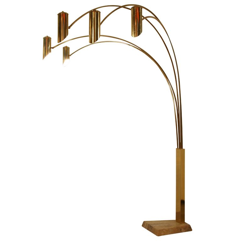 View this item and discover similar floor lamps for sale at xl impressive arc floorlamp in brass metal and marble feet