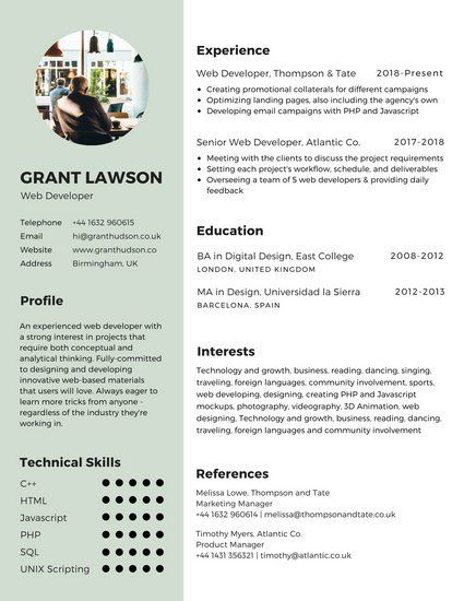 Mint Green Infographic Resume Infographic Resume Infographic Resume Template Resume Templates