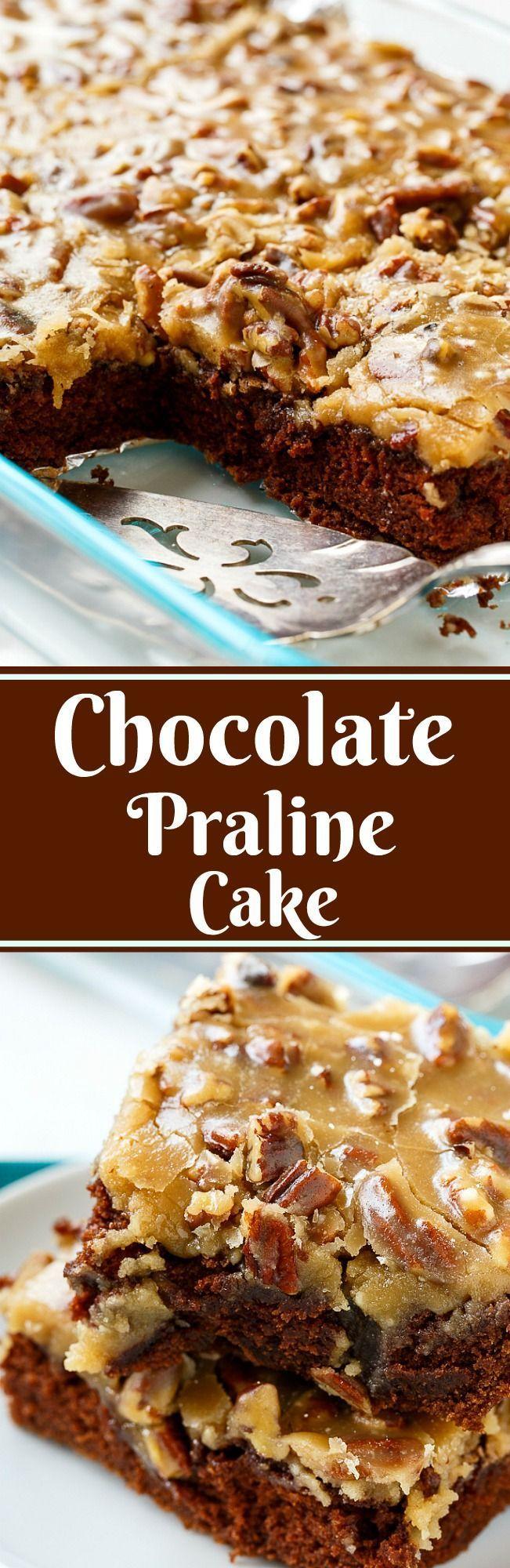 Chocolate Praline Cake #pralinecake