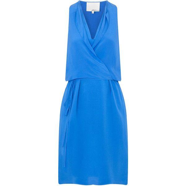3.1 Phillip Lim Silk wrap dress ($785) ❤ liked on Polyvore