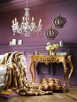 Console sculptée style baroque - baroccoco Un intérieur déco qui a