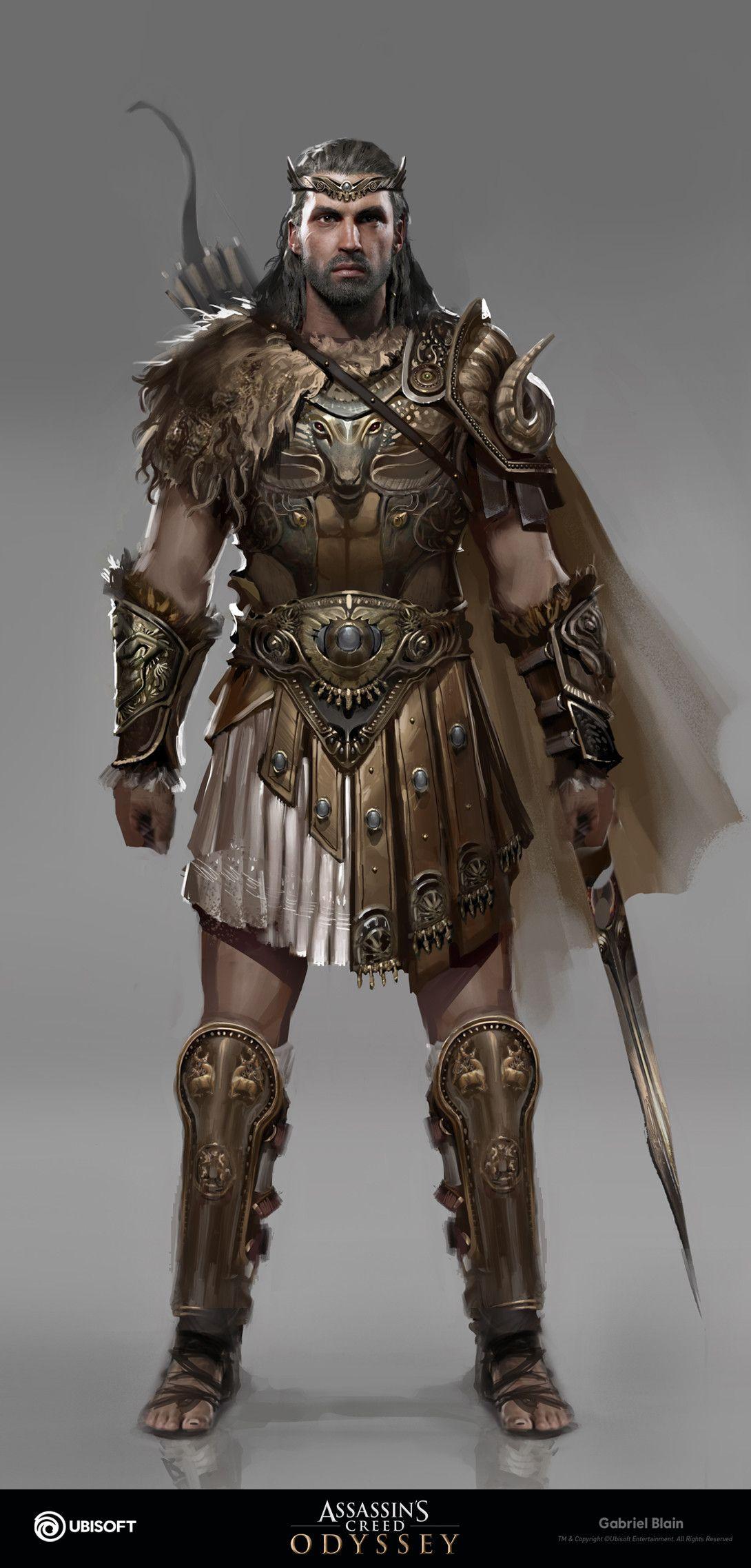 Artstation Greek Hero Gabriel Blain Greek Heroes Assassins