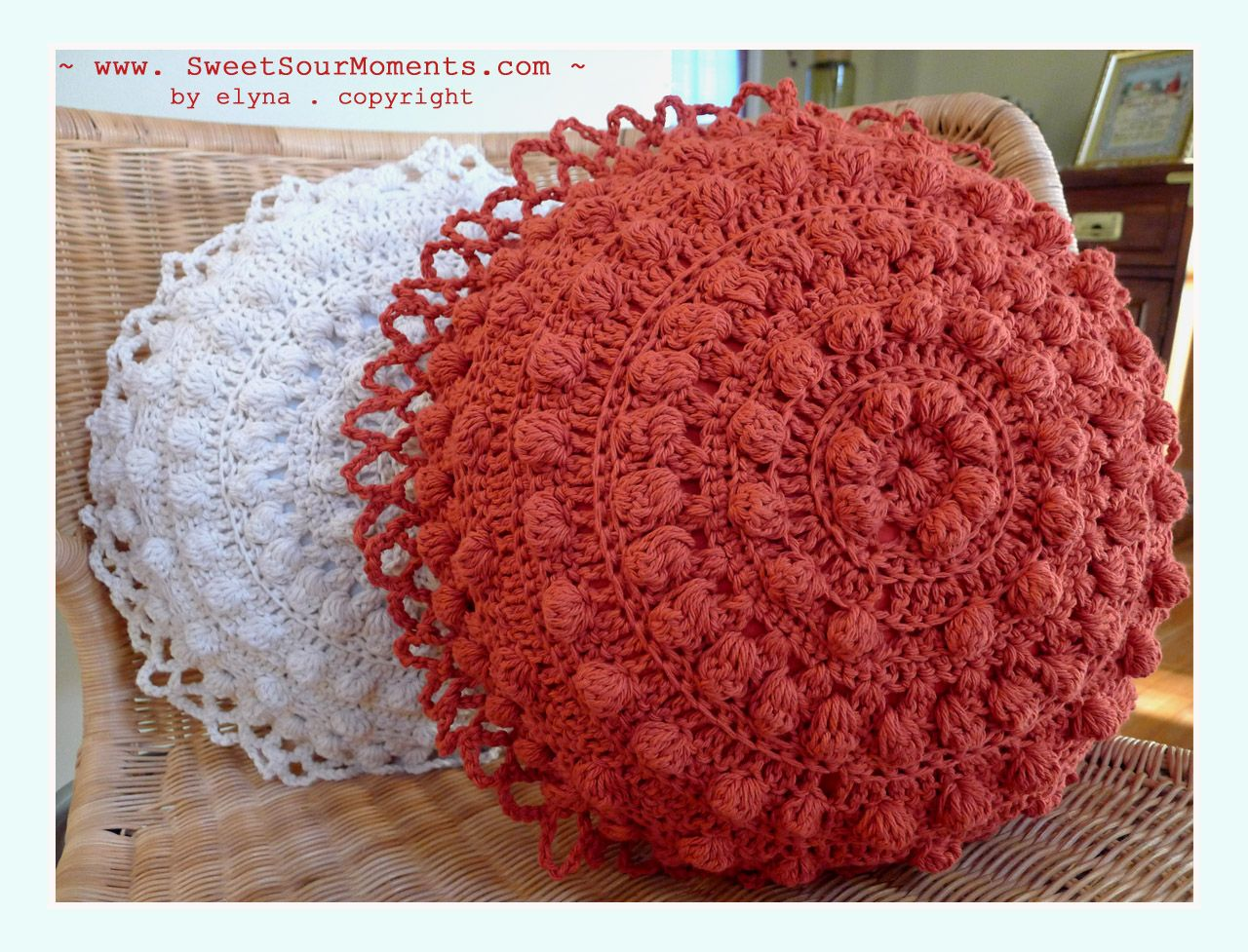 Crochet pillow patterns each pillow needs 2 round pcs 1 with crochet pillow patterns each pillow needs 2 round pcs 1 with ruffle and the bankloansurffo Image collections