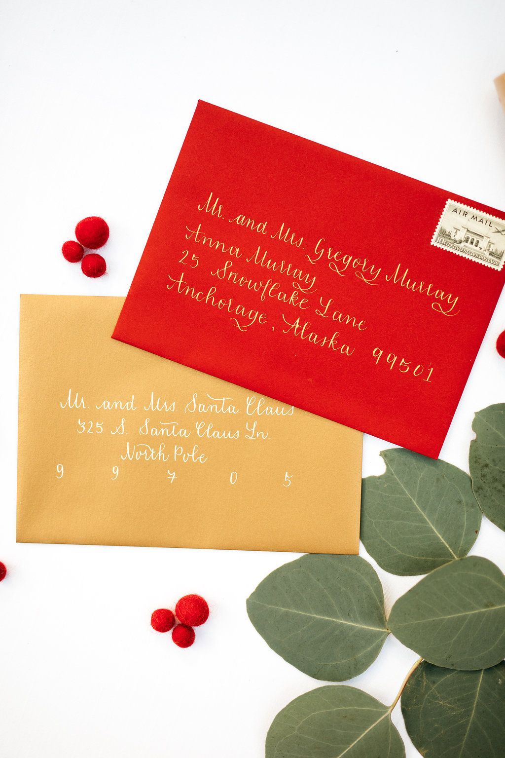 envelope calligraphy, michigan calligrapher, red and gold wedding ...
