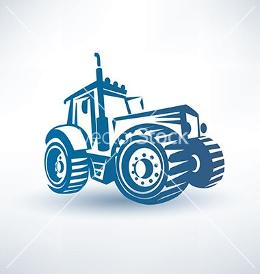 Modern Tractor Symbol On Vectorstock Silhouette Cutting Files