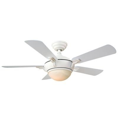 Hampton Bay Midili White Ceiling Fan 44 Inch 71608