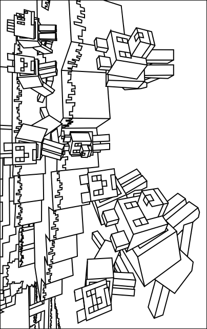 Minecraft Wolves Coloring Page Minecraft Coloring Pages Coloring Pages Airplane Coloring Pages