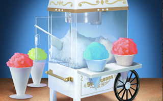Cool down this summer with this retro-styled Snow Cone Maker by Nostalgia Electronics. Such a cool machine that the kids will love this!