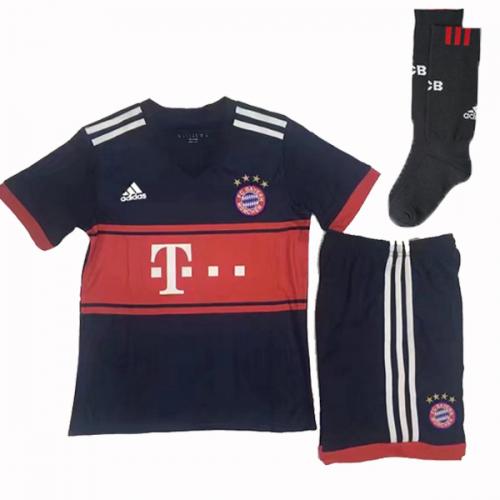 17-18 Bayern Munich Away Black Children s Jersey Whole Kit(Shirt+Short+Socks ) 8d53d038b