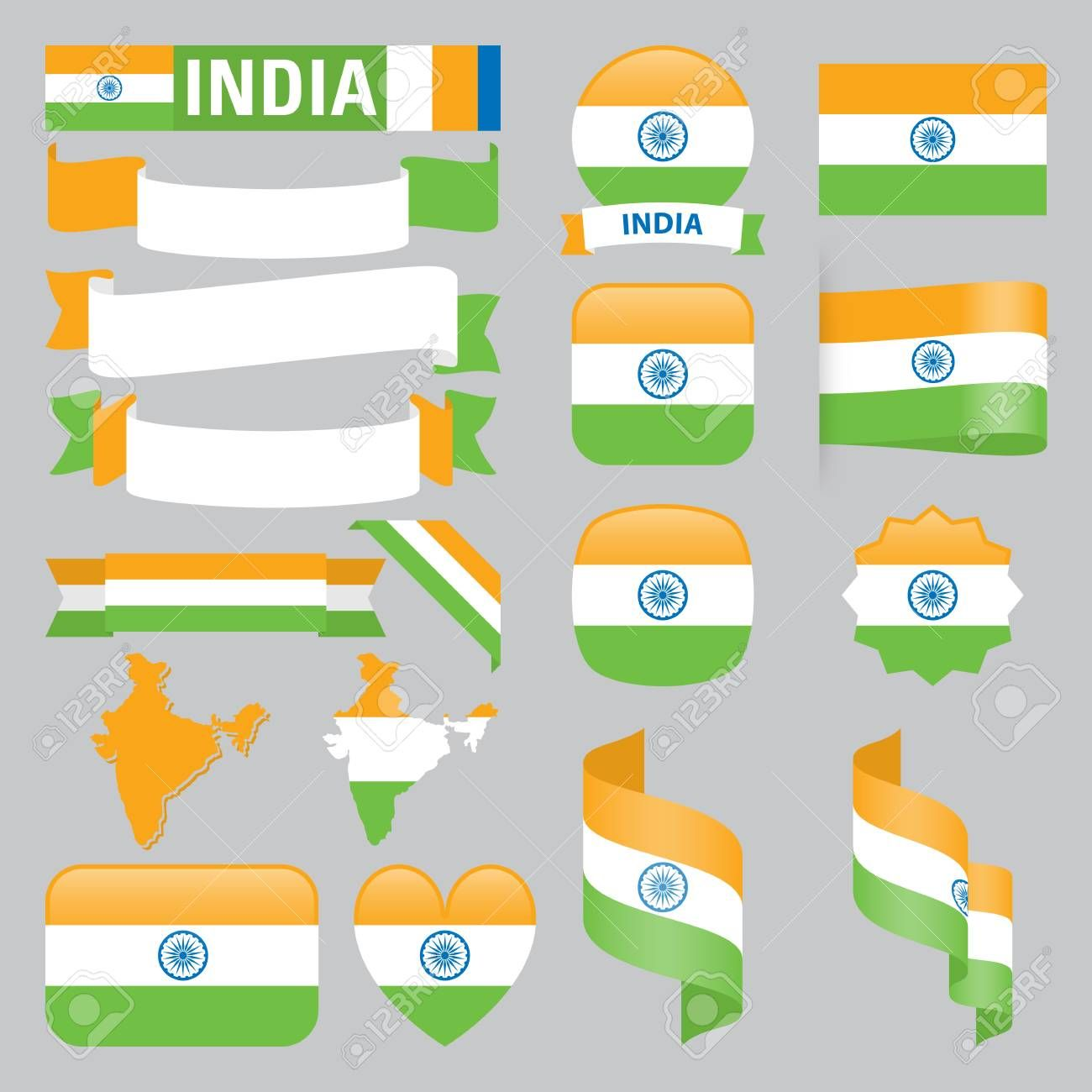 Set Of India Maps Flags Ribbons Icons And Buttons With Different Shapes Ad Maps Flags Set India Buttons In 2020 India Map Flag Different Shapes