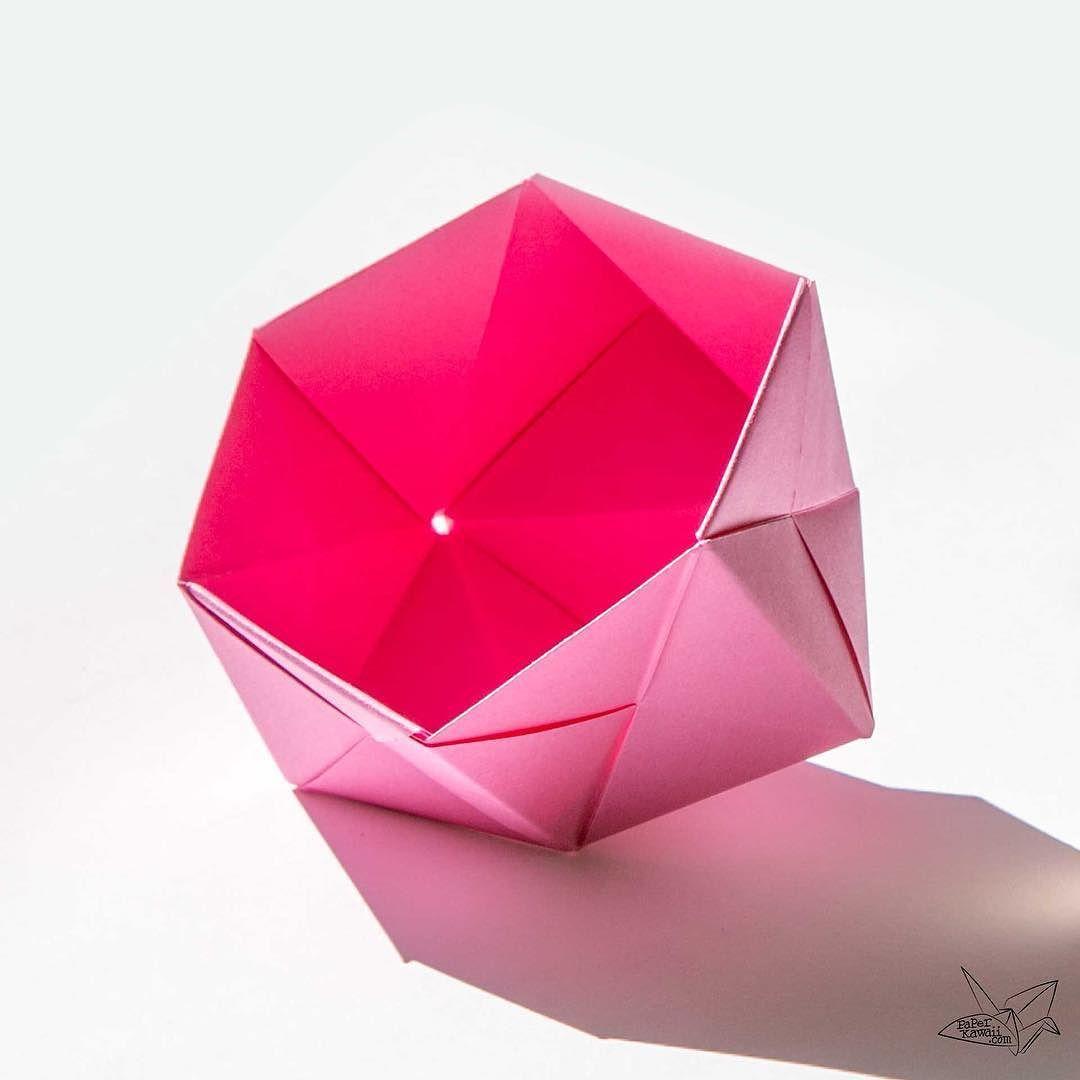 Origami Sonobe Bowl Origami Bowl Sonobe Unitorigami Origamibowl