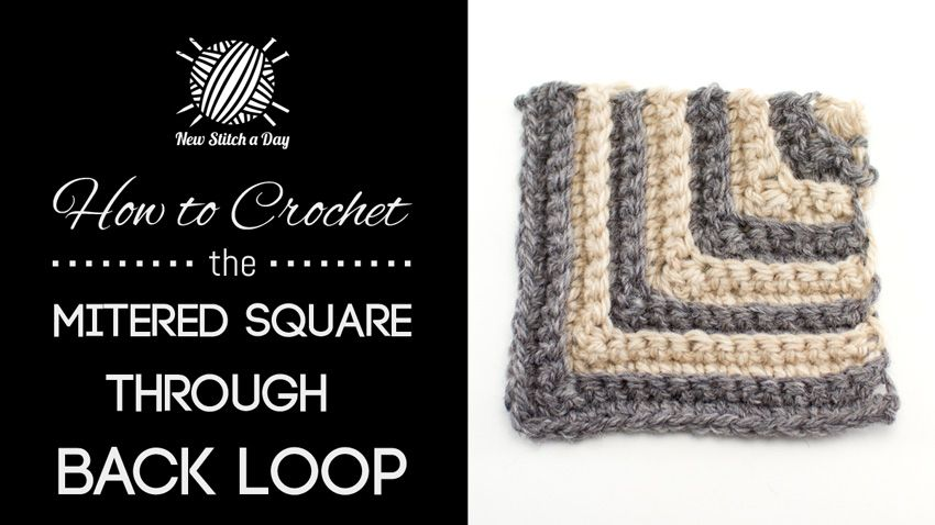 How to Crochet the Mitered Square Through the Back Loop. I bet this would make a great blanket.