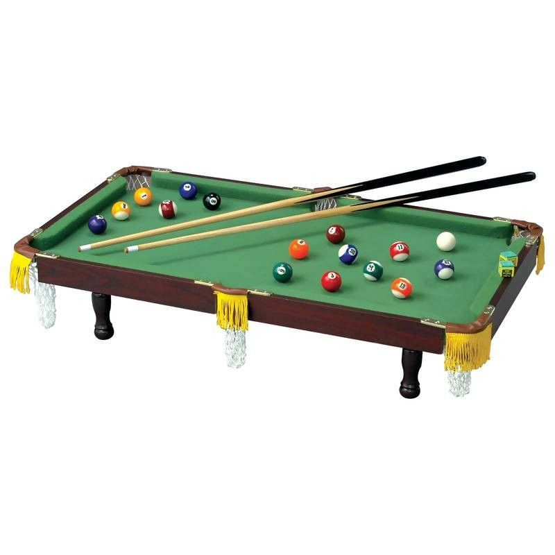 Club Fun Tabletop Miniature Pool Table Enjoy The Same Fun With This - Tabletop pool table full size
