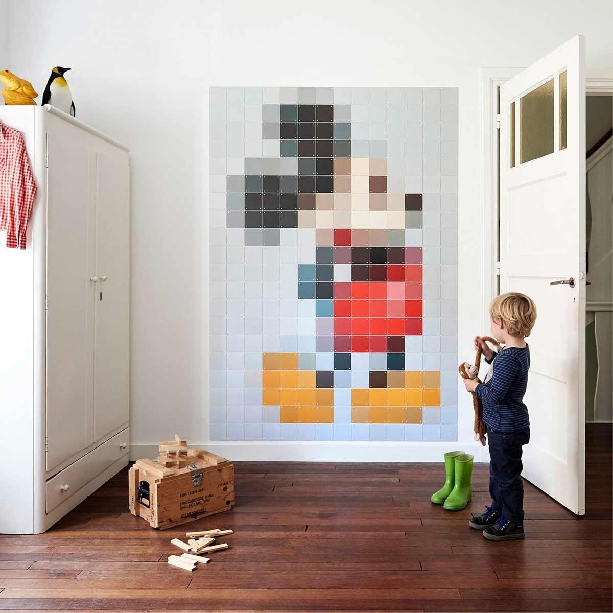 Mickey Mouse Wall Art disney pixel mickey mouse wall artixxi at dotmaison | h.o.m.e