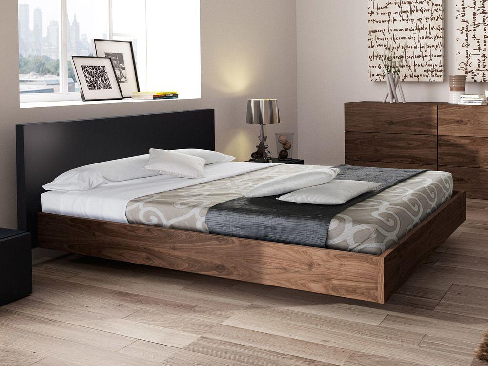 lit deux personnes en bois avec tete de lit float temahome lit deux personnes delamaison iziva com