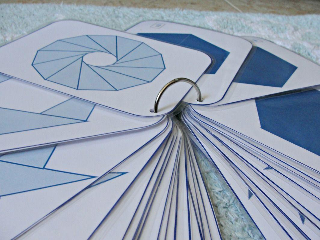 Triangulos Azules Montessori Mimontessori