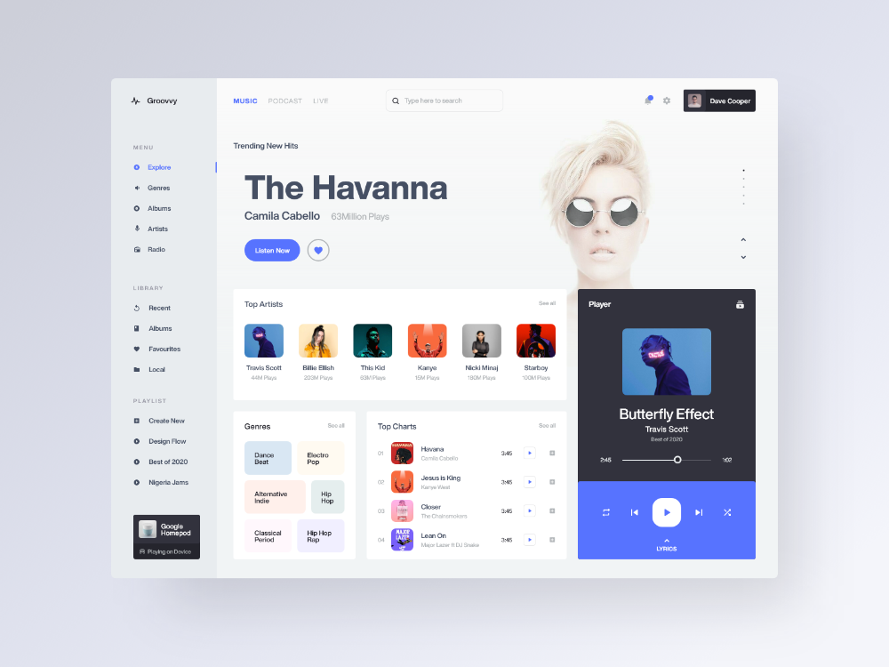 Music Player Web Application In 2020 Web Application Design Web App Design Web Application