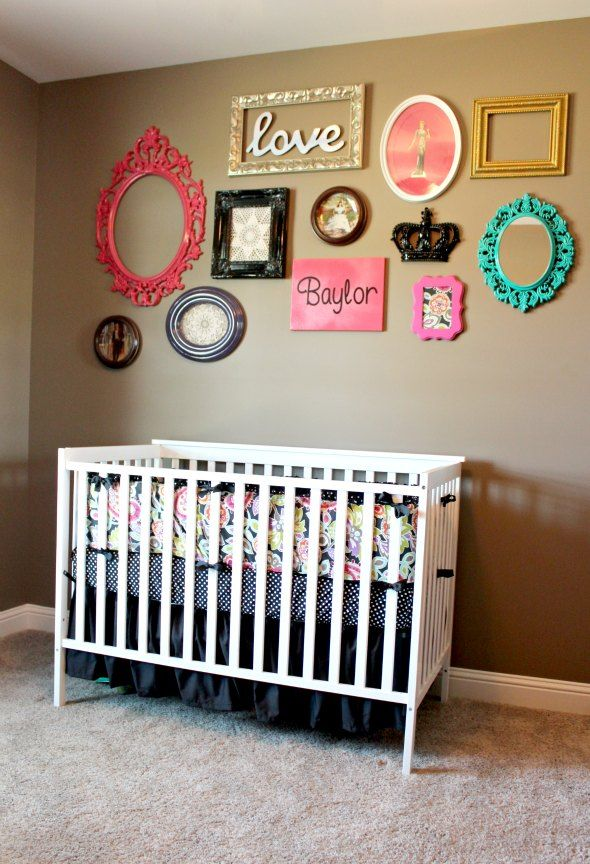 Love A Mixed Frame Gallery Wall In The Nursery