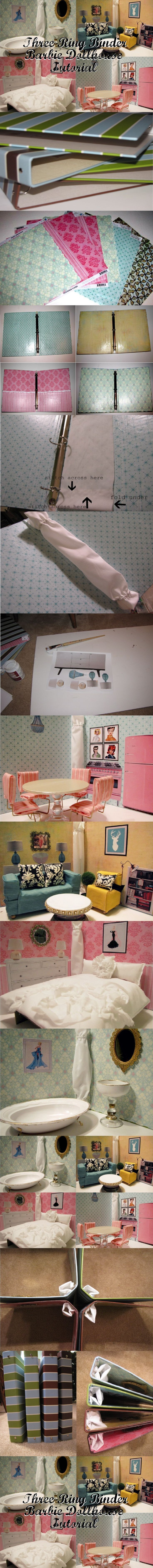 inexpensive dollhouse furniture. Three Ring Binder Barbie Doll House - Inexpensive, Compact, Cute! I Like This Idea But For My Son To Create Different Boyish Scene Backgrounds For\u2026 Inexpensive Dollhouse Furniture